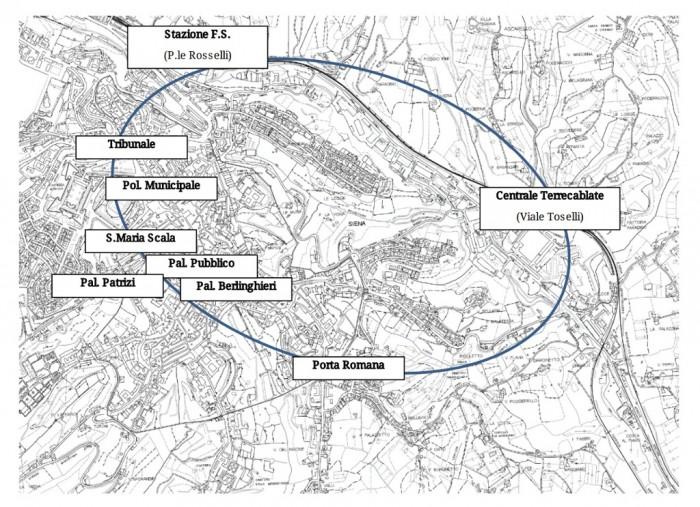 Mappa della rete DIANA